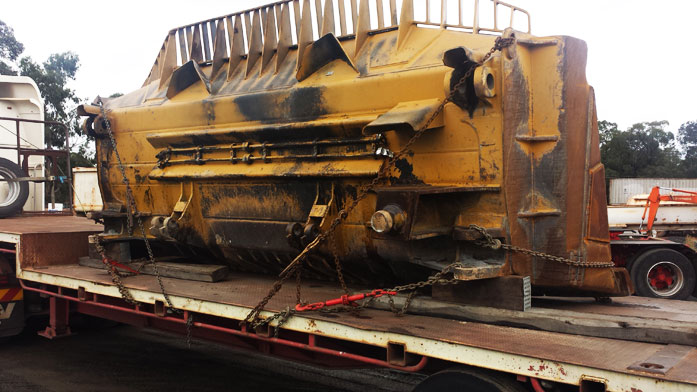 D10 Dozer Blade ready for transport