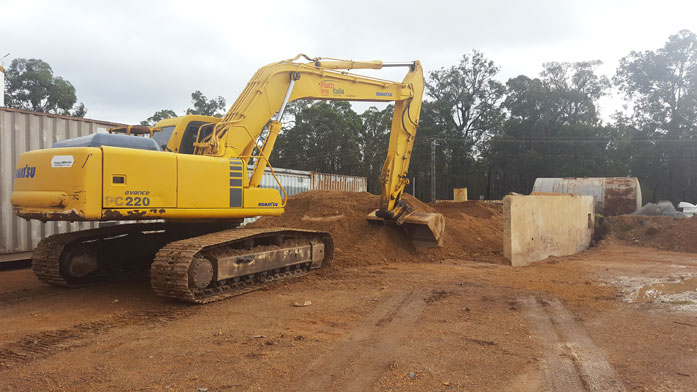 Earthmoving equipment for civil and domestic work